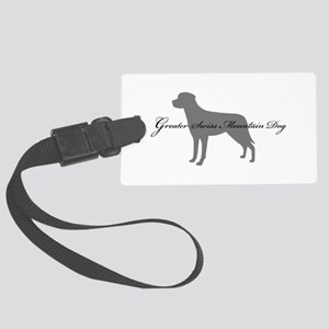 9-greysilhouette2 Large Luggage Tag