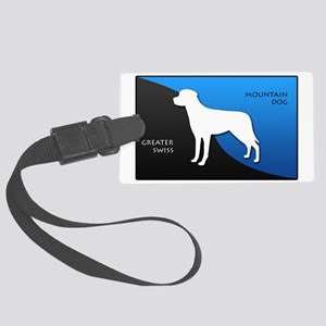 2-blueblack Large Luggage Tag