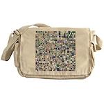 Geometric Grid of Colors Messenger Bag