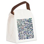 Geometric Grid of Colors Canvas Lunch Bag