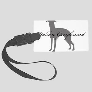 14-greysilhouette2 Large Luggage Tag