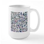 Geometric Grid of Colors Mugs