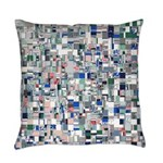 Geometric Grid of Colors Everyday Pillow