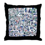 Geometric Grid of Colors Throw Pillow