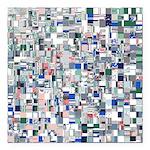 Geometric Grid of Colors Square Car Magnet 3