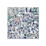 Geometric Grid of Colors Sticker