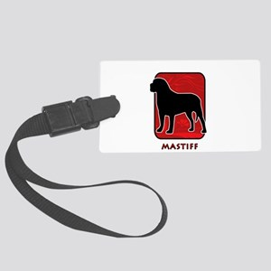 2-redsilhouette Large Luggage Tag