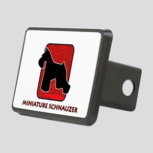 5-redsilhouette Rectangular Hitch Cover