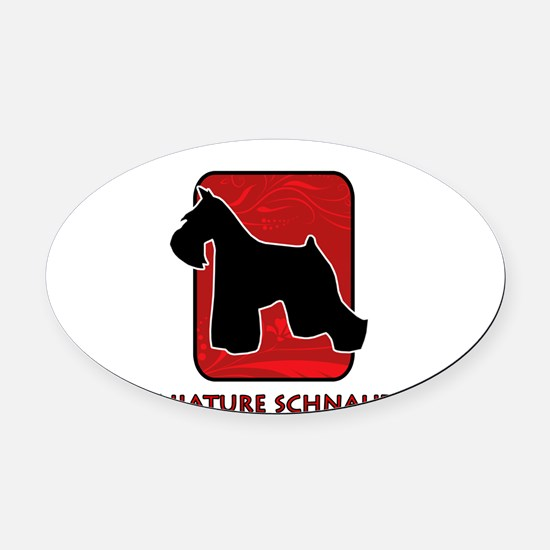 5-redsilhouette.png Oval Car Magnet