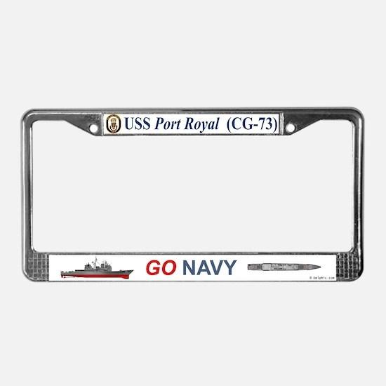 USS Port Royal CG-73 License Plate Frame