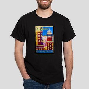 Pakistan Travel Poster 1 Dark T-Shirt