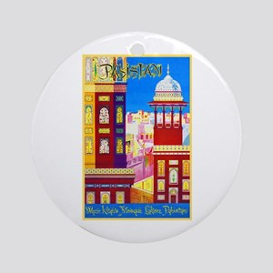 Pakistan Travel Poster 1 Ornament (Round)