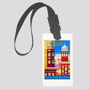 Pakistan Travel Poster 1 Large Luggage Tag