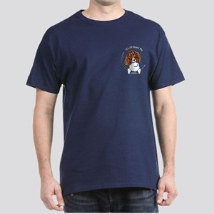 Springer Spaniel IAAM Pocket Dark T-Shirt