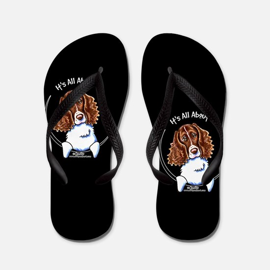 Springer Spaniel All About Me Black Flip Flops