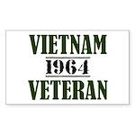 Vietnam Veteran 1964 Sticker (Rectangle)