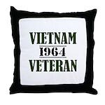 Vietnam Veteran 1964 Throw Pillow