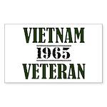 VIETNAM VETERAN 65 Sticker (Rectangle)