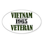 VIETNAM VETERAN 65 Sticker (Oval)