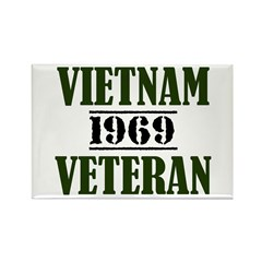 VIETNAM VETERAN 69 Rectangle Magnet