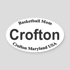 Crofton Maryland Basketball Mom Oval Car Magnet