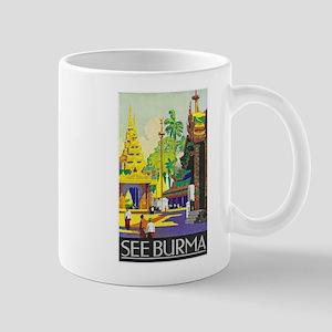 Burma Travel Poster 1 Mug