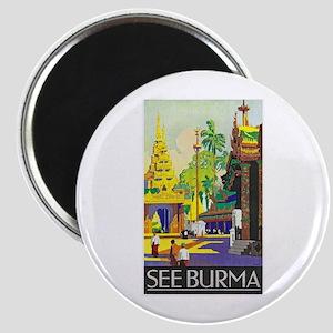 Burma Travel Poster 1 Magnet