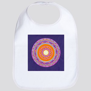Dayglo Pink and Orange Mandala Bib
