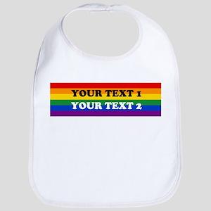 Personalize Cute Rainbow Bib