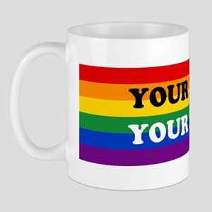 Personalize Cute Rainbow Mug