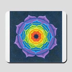 Rainbow Lotus Mandala Mousepad