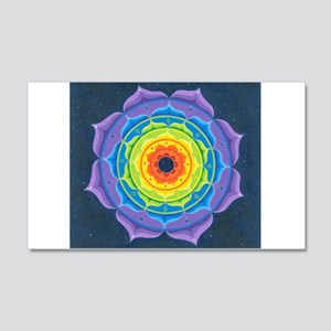 Rainbow Lotus Mandala 20x12 Wall Decal
