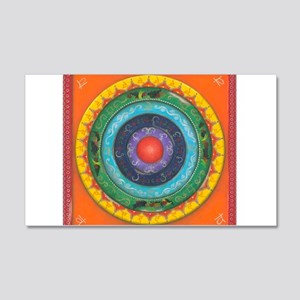 Gypsy Wagon Chakra Mandala 20x12 Wall Decal