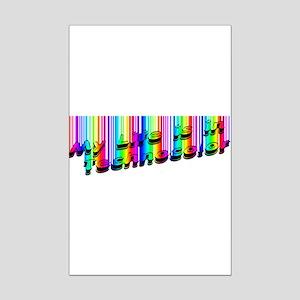 Techno Color Mini Poster Print