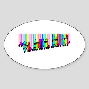 Techno Color Oval Sticker