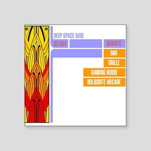 "Quark's Square Sticker 3"" x 3"""