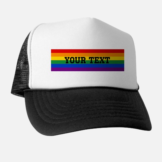 Personalize Rainbow Trucker Hat