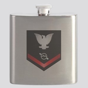 Navy PO3 Operations Specialist Flask