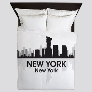 New York Skyline Queen Duvet