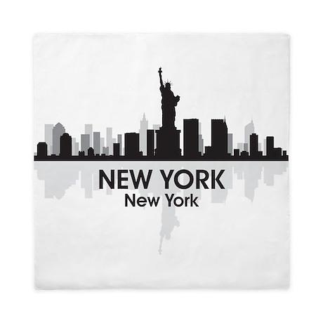 New York Skyline Queen Duvet