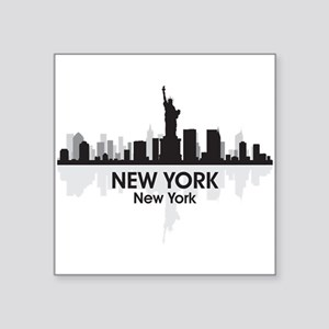 "New York Skyline Square Sticker 3"" x 3"""