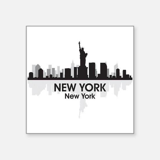 "New York Skyline Square Sticker 3"" x 3"""