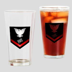 Navy PO3 Electronics Technician Drinking Glass