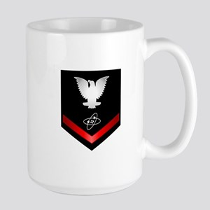 Navy PO3 Electronics Technician Large Mug