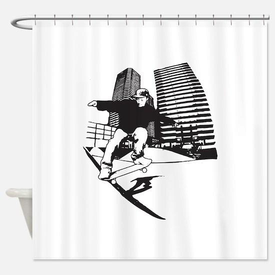 Skateboarding Skateboarder Shower Curtain