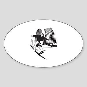 Skateboarding Skateboarder Sticker (Oval)