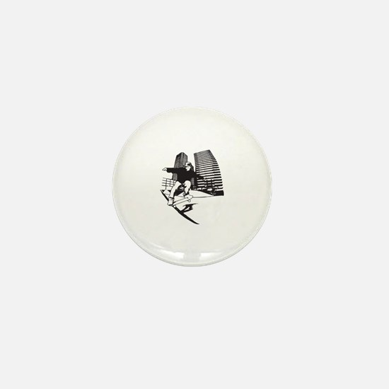 Skateboarding Skateboarder Mini Button