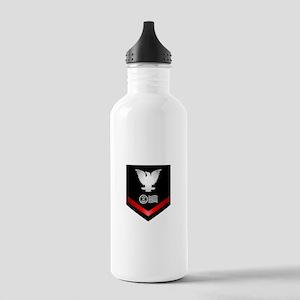Navy PO3 Postal Clerk Stainless Water Bottle 1.0L