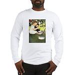 Little Girl Loves Her Kitty Long Sleeve T-Shirt
