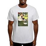 Little Girl Loves Her Kitty Light T-Shirt